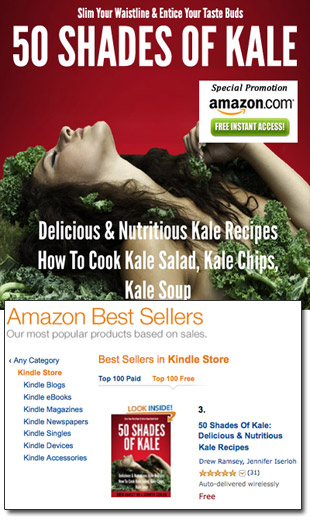 50 Shades Of Kale Hits #3 on Amazon