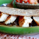 Black Bean Quesadilla with Chicken