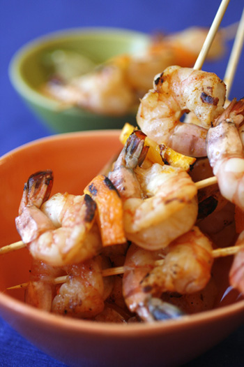 Chipotle Orange Shrimp with Spicy Lime Mayo