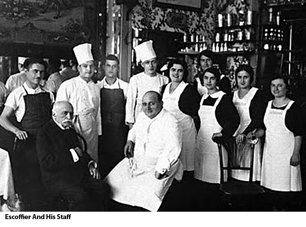 Escoffier and His Staff