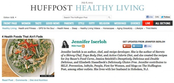 Jennifer Iserloh in Huffington Post