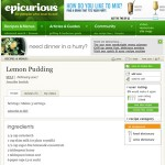 Lemon Pudding Recipe – EpiCurious.com