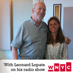 With Leonard Lopate on his radio show