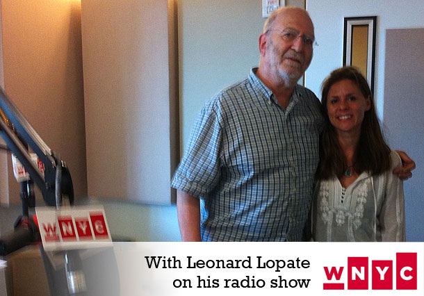 Skinny Chef Jennifer Iserloh with Leonard Lopate on his radio show