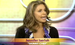 Jennifer on Better TV, discussing low-cal comfort foods