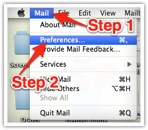 Whitelist Mac Mail - 1