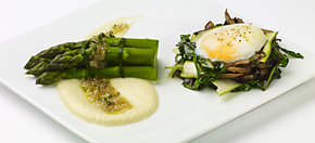 asparagus at Tomate Rouge