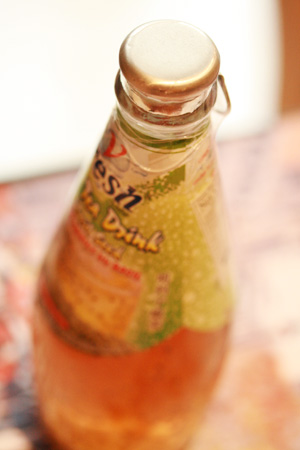drink with basil seeds
