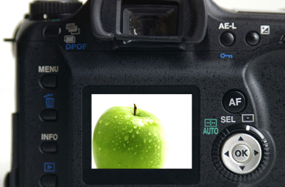 camera with apple