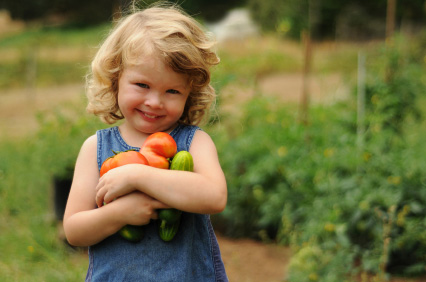 Vegetables Lovin'  Kid