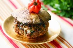 mushroom-turkey-burger