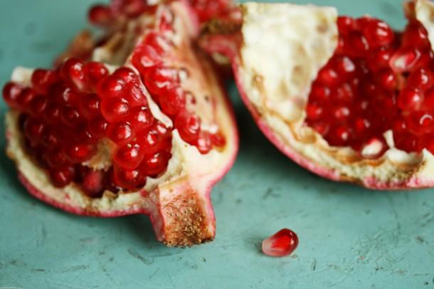 pomegranate-halves