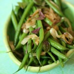 Shallots and Green Beans