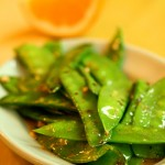 Snow Peas with Orange Zest and Garlic