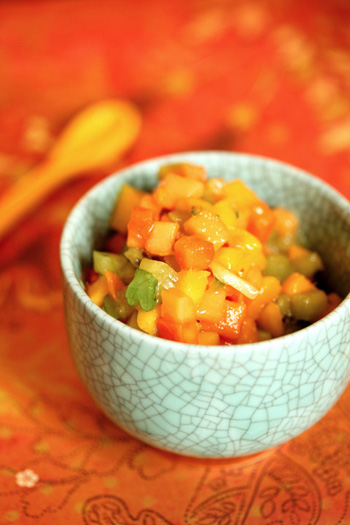 Tropical fruit salsa skinny chef for Fruit salsa for fish