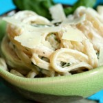 Light and Creamy Fettuccine with Fresh Basil