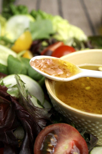 Shallot Dressing with Greens