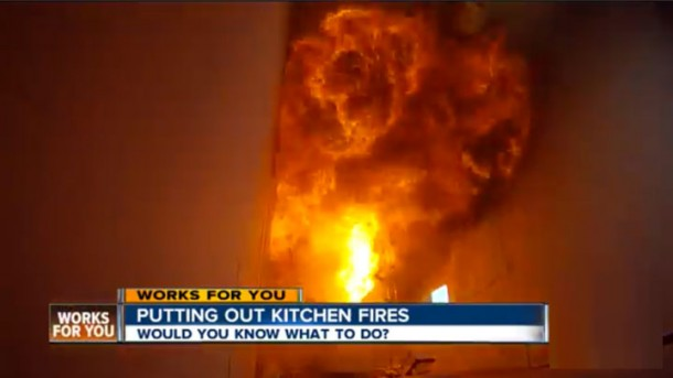 Kitchen Fire How To Put Out A Grease Fire Video