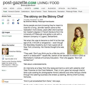 Jennifer Iserloh Interview in Pittsburgh Post-Gazette