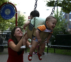 Amaya and Claudito Swinging