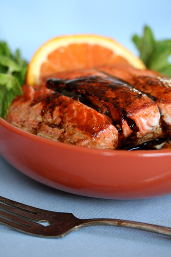 Salmon with Orange and Balsamic Glaze