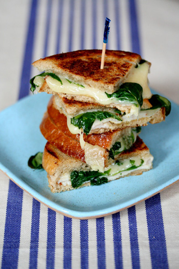 Grilled Cheese with Turkey and Arugula