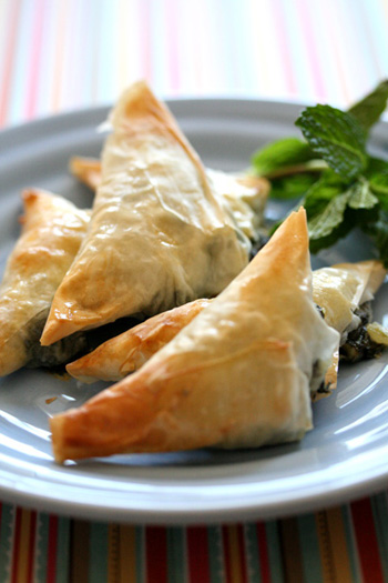 Spinach and Goat Cheese Triangles