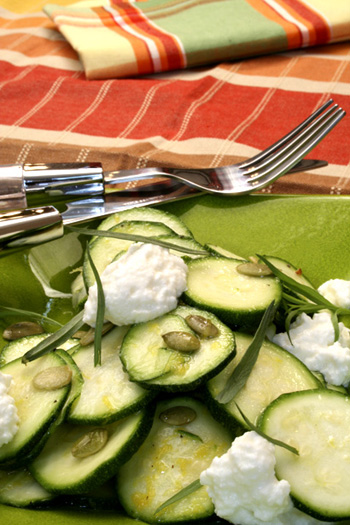 Zucchini Salad with Lemon and Ricotta