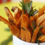 Sweet Potato Fries with Rosemary and Parmesan