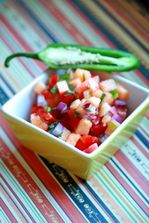Tomato Cantaloupe Salsa