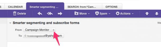 Whitelisting Yahoo Mail