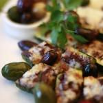 Zucchini Bites with Tapenade and Mozzarella